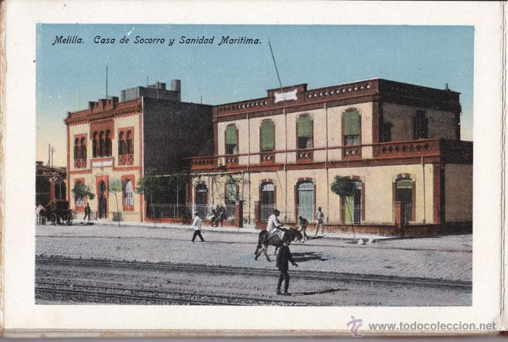 Postales: RECUERDO DE MELILLA. SERIE A - BOIX HERMANOS. 20 BONITAS VISTA EN COLOR, (UNA TAMAÑO QUÍNTUPLE) - Foto 3 - 48661223