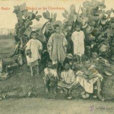 Cartoline: MELILLA. NADOR. RIFEÑOS EN LAS CHUMBERAS. HACIA 1920.. Lote 48920522