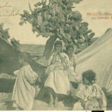 Cartoline: MELILLA. NIÑOS RIFEÑOS EN SUS VIVIENDAS DE CAMPO. HACIA 1920.. Lote 48920546