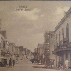 Postales: POSTAL DE MELILLA, CALLE DE CASTELAR. Lote 49324374