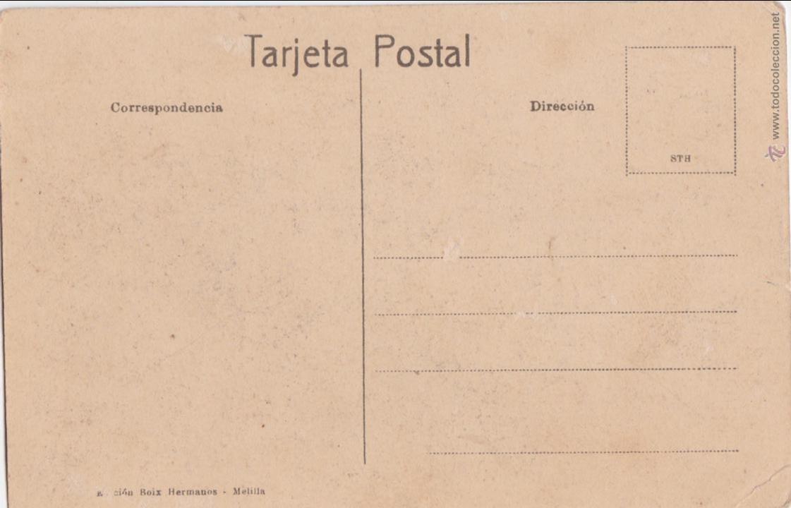 Postales: P- 1647. POSTAL DE MELILLA. MUELLE Y PUEBLO ANTIGUO. - Foto 2 - 49995316