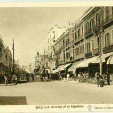 Postais: MELILLA. AVENIDA DE LA REPUBLICA. HACIA 1932. ROISIN.. Lote 51736336