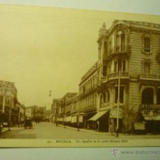 Postales: POSTAL MELILLA.-UN DETALLE CALLE ALFONSO XIII--BB. Lote 52192259