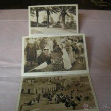 Postales: ABANICO CON SIETE ANTIGUAS POSTALES DE MELILLA. Lote 52360636