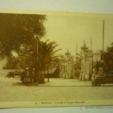 Postales: POSTAL MELILLA.-ENTRADA PARQUE HERNANDEZ --BB. Lote 52611723