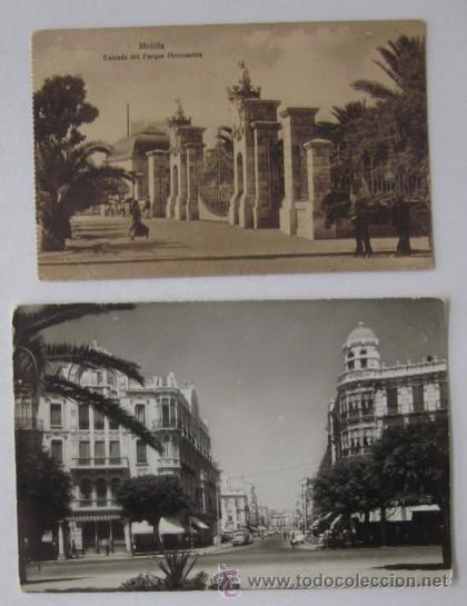 DOS ANTIGUAS POSTALES DE MELILLA (Postales - España - Melilla Antigua (hasta 1939))