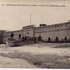 Postales: CAMPAÑA DE MELILLA 1909 FUERTE DE CABRERIZAS ALTAS. CIRCULADA CON FRANQUICIA.. Lote 52815517