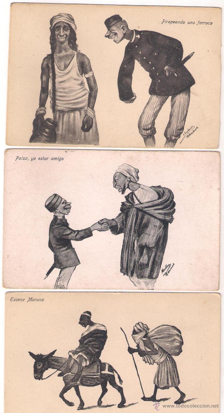 POSTALES CARICATURAS MELILLA (Postales - España - Melilla Moderna (desde 1940))