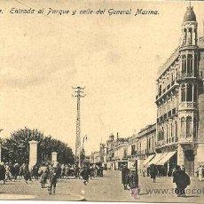 Postales: MELILLA - Nº 20. ENTRADA AL PARQUE Y CALLE DEL GENERAL MARINA - EDICIÓN BOIX HERMANOS - SIN CIRCULAR. Lote 53503876