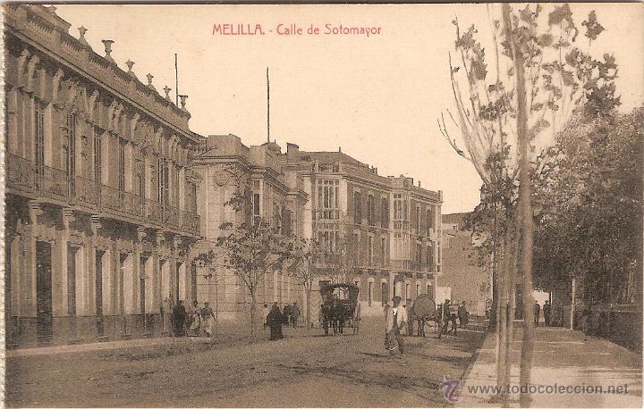 MELILLA, CALLE DE SOTOMAYOR - EDICIONES BOIX HERMANOS - SIN CIRCULAR (Postales - España - Melilla Antigua (hasta 1939))