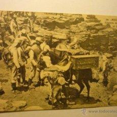 Postales: POSTAL MELILLA -LLEGADA DE UN CONVOY AL CAMPAMENTO DE SIDI MUZA-CIRCULADA BB. Lote 54060603