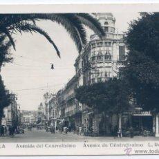 Postales: MELILLA Nº 3. AVENIDA DEL GENERALÍSIMO. L. ROISIN FOTO, NUEVA, SIN CIRCULAR. Lote 54321014