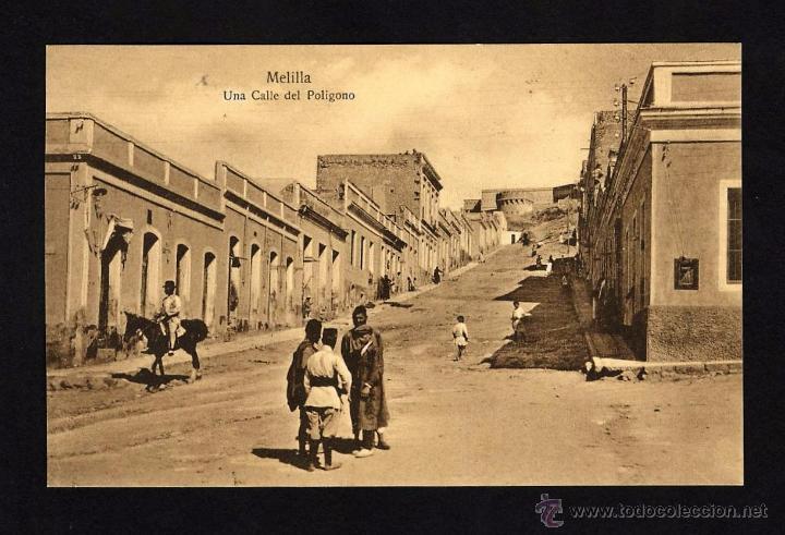 ANTIGUA POSTAL DE MELILLA - UNA CALLE DEL POLIGONO (Postales - España - Melilla Antigua (hasta 1939))