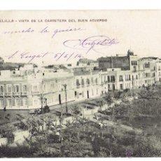Postales: PS5750 MELILLA 'VISTA DE LA CARRETERA DEL BUEN ACUERDO'. RIF-POSTAL. 1914. Lote 48337407