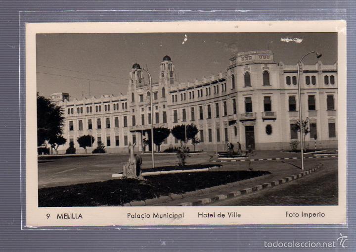 TARJETA POSTAL DE MELILLA - PALACIO MUNICIPAL. HOTEL DE VILLE. 9. FOTO IMPERIO (Postales - España - Melilla Antigua (hasta 1939))