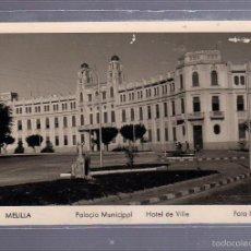 Cartes Postales: TARJETA POSTAL DE MELILLA - PALACIO MUNICIPAL. HOTEL DE VILLE. 9. FOTO IMPERIO. Lote 55096287