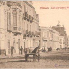 Postales: MELILLA, CALLE DEL GENERAL MARINA - EDICIÓN BOIX HERMANOS - SIN CIRCULAR. Lote 55683833