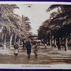 Postales: POSTAL DE MELILLA. Nº26 DETALLE DEL PARQUE. EDITADA POR ROISIN. AÑOS 30.. Lote 55688100