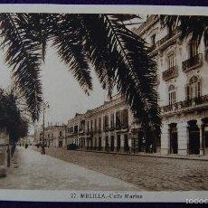 Postales: POSTAL DE MELILLA. Nº27 CALLE MARINA. EDITADA POR ROISIN. AÑOS 30.. Lote 55688185