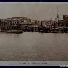 Postales: POSTAL DE MELILLA. Nº29 DETALLE DEL MUELLE. EDITADA POR ROISIN. AÑOS 30.. Lote 55688381
