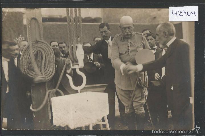 MELILLA - COLOCACION PRIMERA PIEDRA CAMARA DE COMERCIO POR EL SR. VALLESCA - VER REVERSO -(42.964) (Postales - España - Melilla Antigua (hasta 1939))
