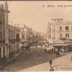 Postales: MELILLA, CALLE DE O'DONNELL - EDICIONES BOIX HERMANOS - SIN CIRCULAR. Lote 57023509