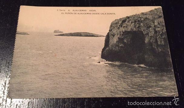 ANTIGUA POSTAL DE ALHUCEMAS - SERIE II 8 AXDIR - EL PEÑON DE ALHUCEMAS DESDE CALA BONITA MELILLA - (Postales - España - Melilla Antigua (hasta 1939))