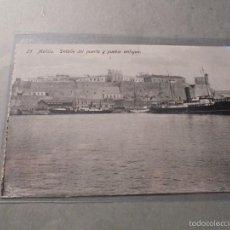 Postales: 25 - MELILLA . DETALLE DEL PUERTO Y PUEBLO ANTIGUO EDC. BOIX HERMANOS - 14X9 CM. . Lote 57490496