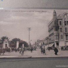 Postales: 20 - MELILLA . ENTRADA AL PARQUE Y CALLE DEL GENERAL MARINA . EDC. BOIX HERMANOS - 14X9 CM. . Lote 57511503