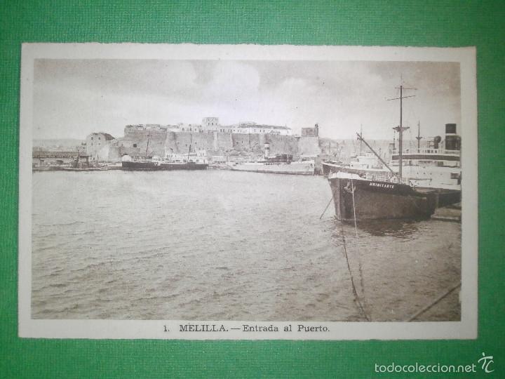 POSTAL - ESPAÑA - MELILLA - 1 ENTRADA AL PUERTO - L- ROISIN - SIN USO - (Postales - España - Melilla Antigua (hasta 1939))
