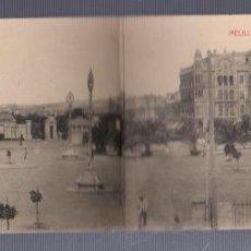 Postales: TARJETA POSTAL DOBLE DE MELILLA - VISTA GENERAL DE LA PLAZA ESPAÑA. EDICION BOIX HERMANOS. Lote 57590313