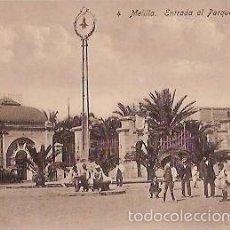 Postales: ANTIGUA POSTAL 4 MELILLA ENTRADA AL PARQUE HERNANDEZ. Lote 58268298