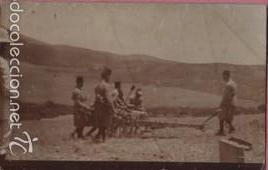 MUY BUENA FOTO POSTAL DE UNOS MILITARES EN MELILLA 1909 - ARTILLERIA MILITARIA (Postales - España - Melilla Antigua (hasta 1939))