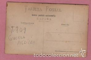 Postales: muy buena foto postal de unos militares en melilla 1909 - artilleria militaria - Foto 2 - 58589051