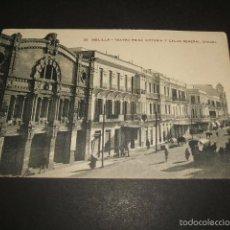 Postales: MELILLA TEATRO REINA VICTORIA Y CALLE GENERAL CHACEL. Lote 62000652