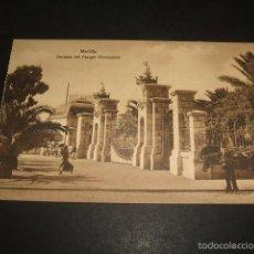 Postales: MELILLA ENTRADA DEL PARQUE HERNANDEZ. Lote 62001444