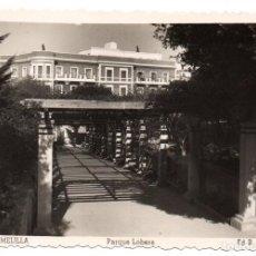 Postales: PS6935 MELILLA 'PARQUE LOBERA'. RAFAEL BOIX. CIRCULADA. 1956. Lote 62056464