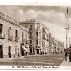 Postales: PS6938 MELILLA 'CALLE DEL GENERAL MARINA'. L. ROISIN. CIRCULADA. 1952. Lote 62057372