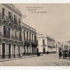 Postales: MELILLA. CALLE DE CHACEL.. Lote 64393087