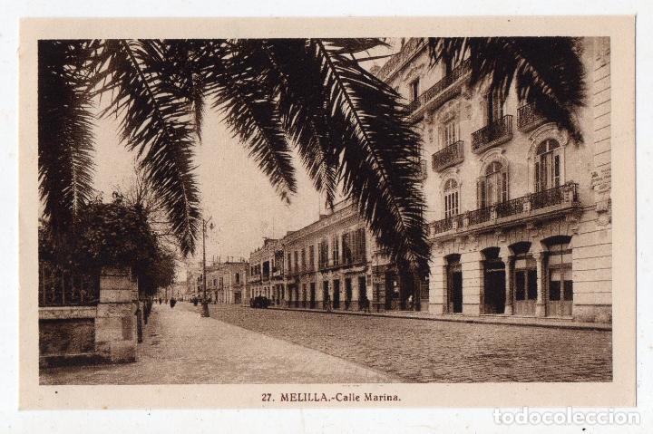 MELILLA. CALLE MARINA. (Postales - España - Melilla Antigua (hasta 1939))
