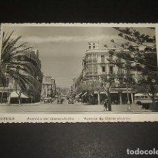Postales: MELILLA AVENIDA DEL GENERALISIMO. Lote 64747631