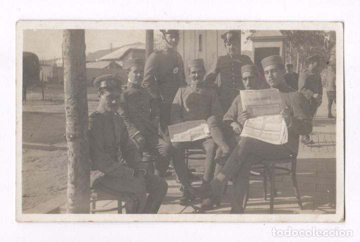 GRUPO DE MILITARES, MELILLA PROBABLEMENTE, 1915'S. POSTAL FOTOGRÁFICA (Postales - España - Melilla Antigua (hasta 1939))