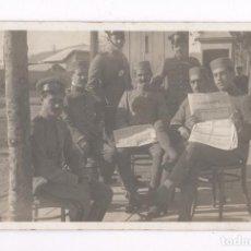 Postales: GRUPO DE MILITARES, MELILLA PROBABLEMENTE, 1915'S. POSTAL FOTOGRÁFICA. Lote 76224331