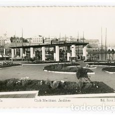 Cartoline: MELILLA CLUB MARITIMO, JARDINES. ED. BOIX HERMANOS. POSTAL FOTOGRÁFICA, ESCRITA. Lote 77002397