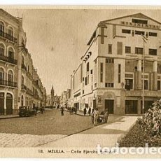 Postales: MELILLA CALLE EJERCITO ESPAÑOL. L. ROISIN, FOT. SIN CIRCULAR. Lote 77501697