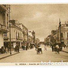 Postales: MELILLA AVENIDA DEL GENERALISIMO. L. ROISIN, FOT. SIN CIRCULAR. Lote 77501709