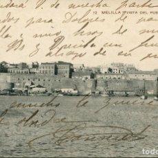 Postales: MELILLA-VISTA DEL PUEBLO ANTIGUO- MUY RARA. Lote 79593593
