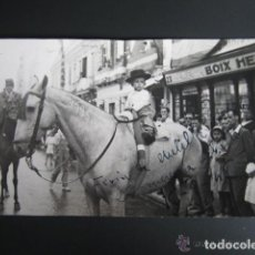 Postales: FOTO POSTAL MELILLA. FERIA DE MELILLA, CONCURSO DE PAREJAS A CABALLO. AÑO 1946. Lote 81437088