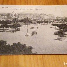 Postales: LA ANTIGUA CIUDAD VISTA DESDE PLAZA DE ESPAÑA. Lote 89074072