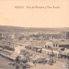 Cartes Postales: MELILLA.- VISTA DEL MANTELETE Y PLAZA ESPAÑA. Lote 95337947
